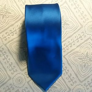 Royal Blue Polyester Mens Tie